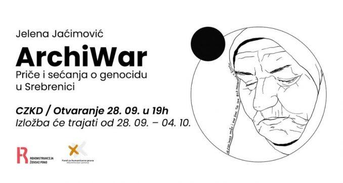 Izložba Jelene Jaćimović o Srebrenici u CZKD-u 1