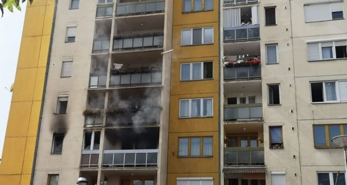 Požar u centru Pirota, povređene dve osobe 2