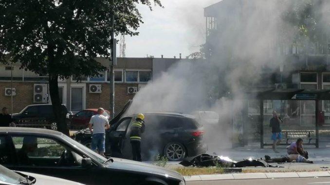 Eksplodirao auto na Novom Beogradu, preminuo povređeni Strahinja Stojanović (FOTO) 1