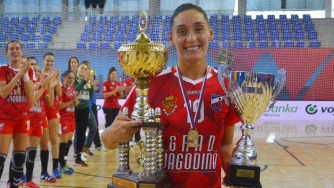 Rukometašice Jagodine osvojile Kup Srbije 1