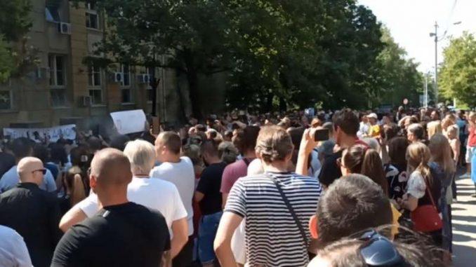 Beograd: Protest zbog vakcina (VIDEO) 2