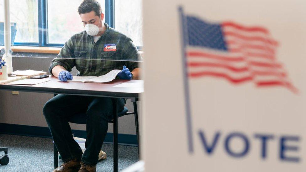 US polling station