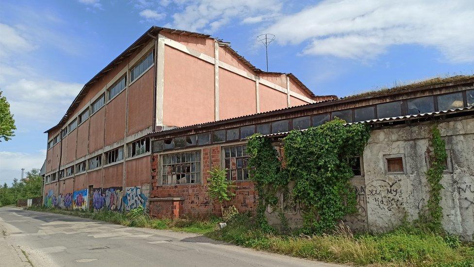 "Jedan od pogona stare fabrike ""Porcelan"""