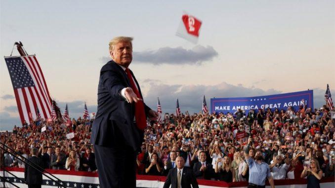 Predsednički izbori u Americi 2020: Tramp na mitingu manje od dve nedelje pošto je bio pozitivan na korona virus 4