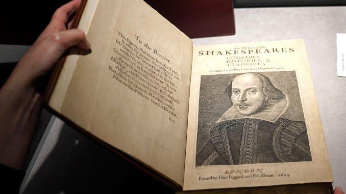 Književnost, Šekspir i novac: Kopija prve zbirke dela prodata za rekordnih 10 miliona dolara 4