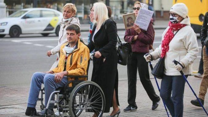 Lukašenko, Belorusija i protesti: Ljudi u invalidskim kolicima na ulici, policija navodno privodila 4
