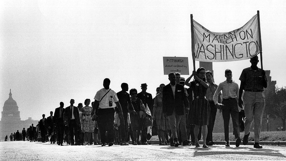 March for rights in 1963