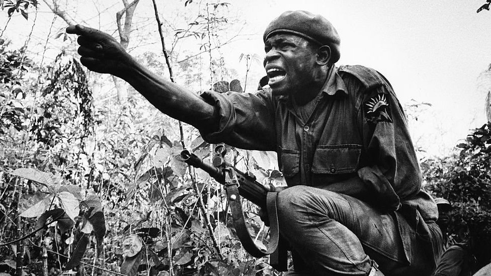 A soldier during the Nigerian Civil War