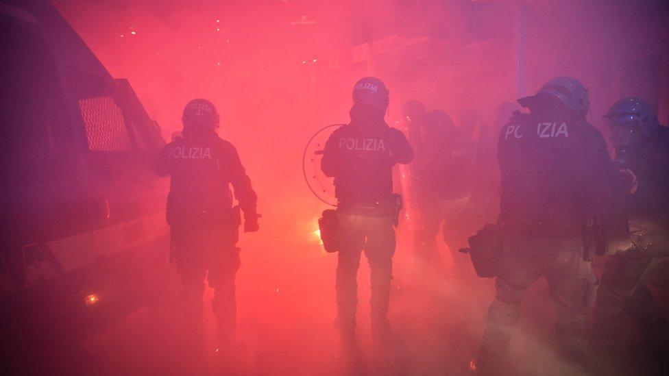 demonstracije u Milanu