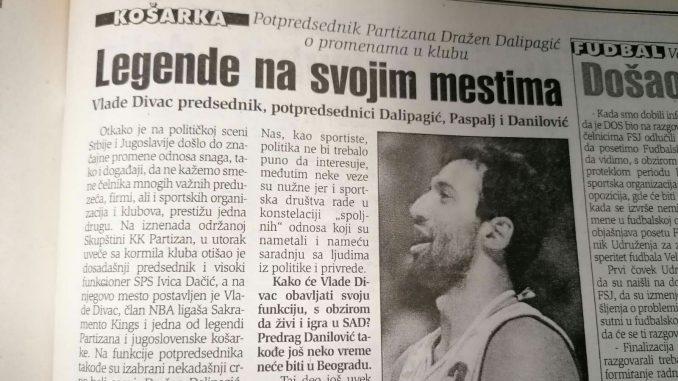 Kako je pad Miloševića uticao na promenu vlasti u KK Partizan? 1