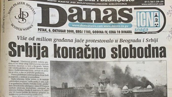 """Dvadeset godina ranije: """"Srbija stala da Milošević ode"""" 1"""
