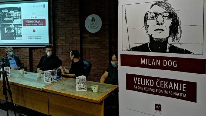 """Otvorena izložba ilustracija Milana Doga """"Veliko čekanje - za one koji vole da im se nacrta"""" 3"""