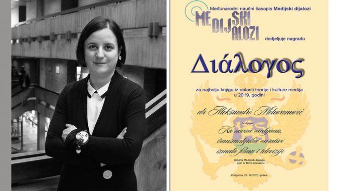 Aleksandra Milovanović dobitnica regionalne nagrade DIALOGOS 3