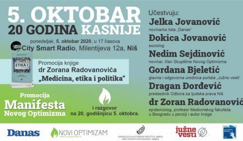 """Događaj pod nazivom """"5. oktobar – 20 godina kasnije"""" u ponedeljak u Nišu 7"""