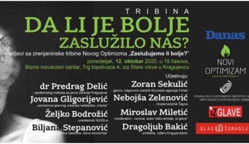 Na tribini u Kragujevcu diskusija o pitanju - Da li je bolje zaslužilo nas? 13