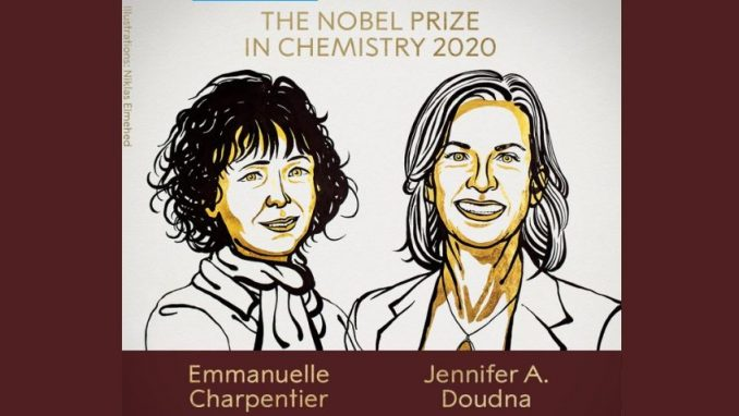 Nobelova nagrada za hemiju dodeljena Emanueli Šarpantje i Dženifer Dudni 1