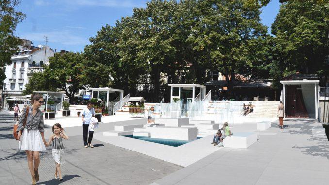 Počinje izgradnja fontane na platou kod Cvetnog trga 2