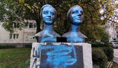 Drugi put oskrnavljen spomenik narodnim herojima, sestrama Baković u Nišu 11