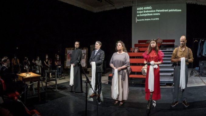 """Predstava """"Srebrenica. Kad mi ubijeni ustanemo"""" - odgovor društva na antifašistički otpor 1"""