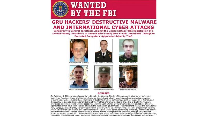 SAD optužile šest pripadnika ruske obaveštajne službe GRU za hakerske napade 1