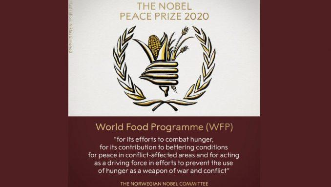 Svetski program za hranu dobitnik ovogodišnje Nobelove nagrade za mir 1