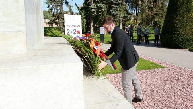 Položeni venci na Spomenik zahvalnosti Francuskoj 1