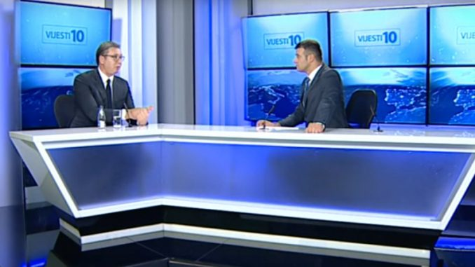 Kako je iza kulisa izgledao intervju sa Vučićem na TV Vijesti 1