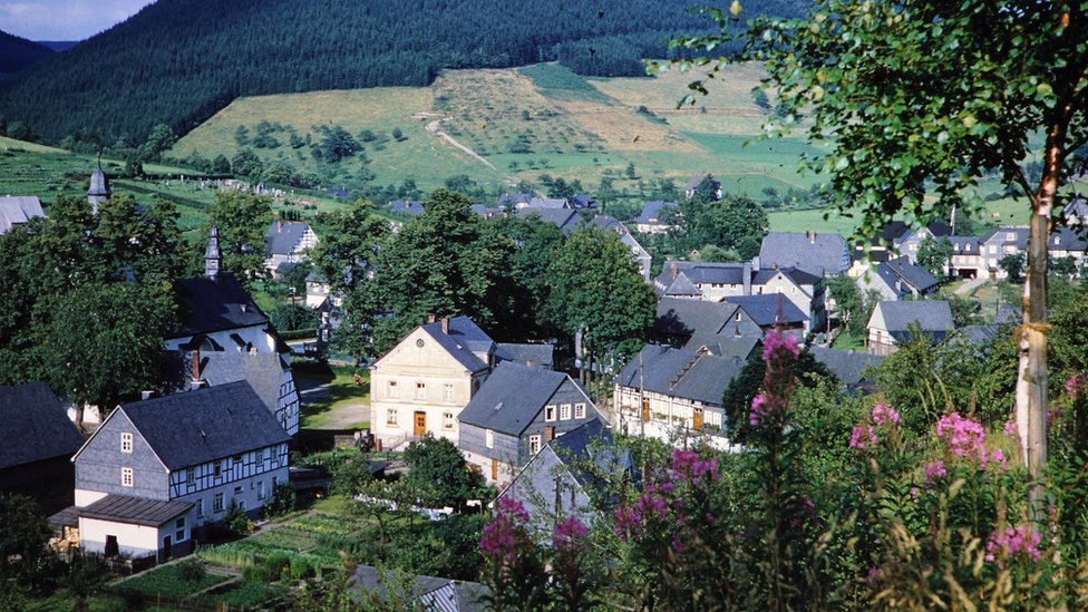 The village of Oberkirchen in Germany