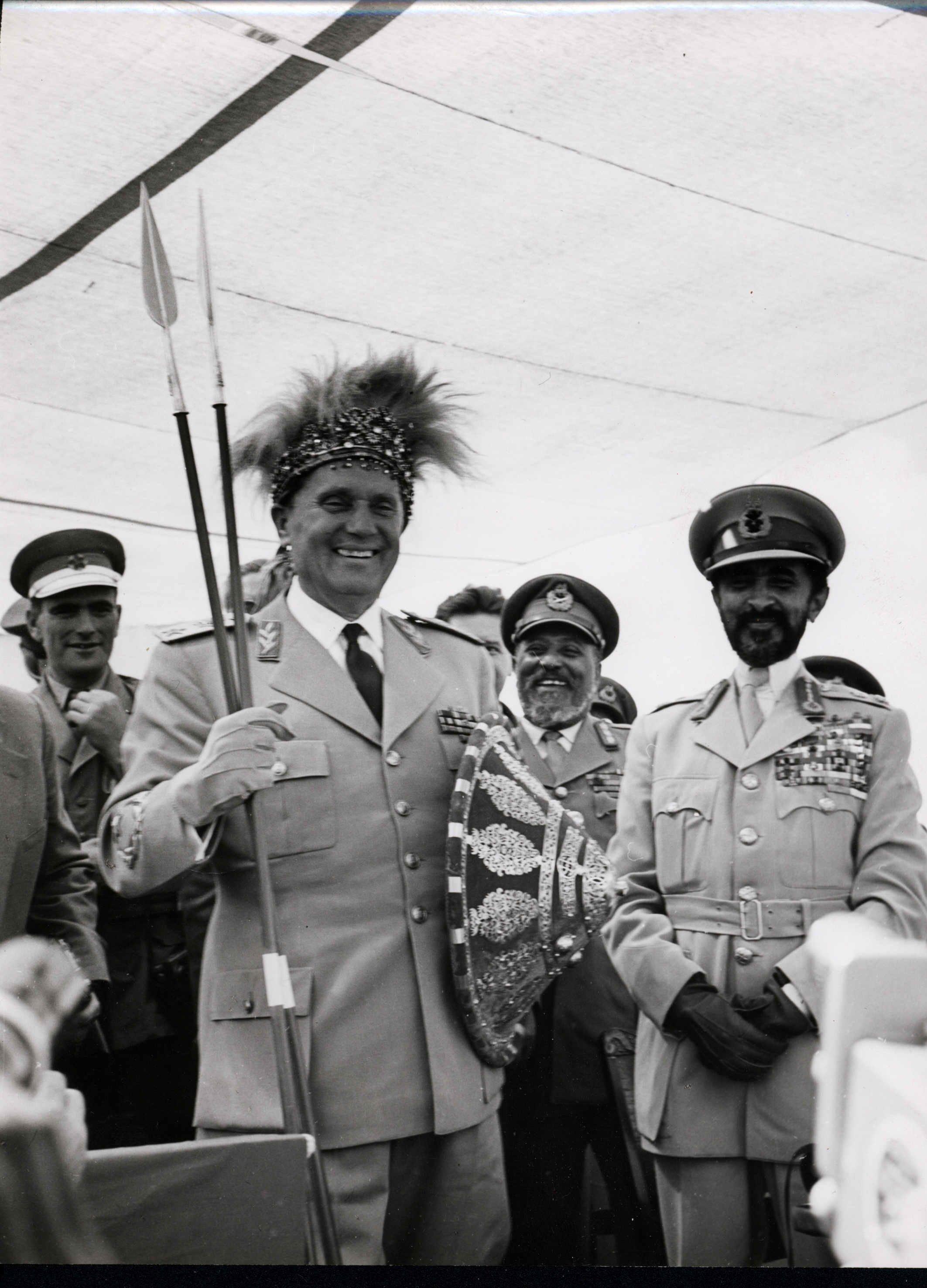 Poseta predsednika Tita Etiopiji: na mestu istorijske bitke kod Adue, 22.12.1955