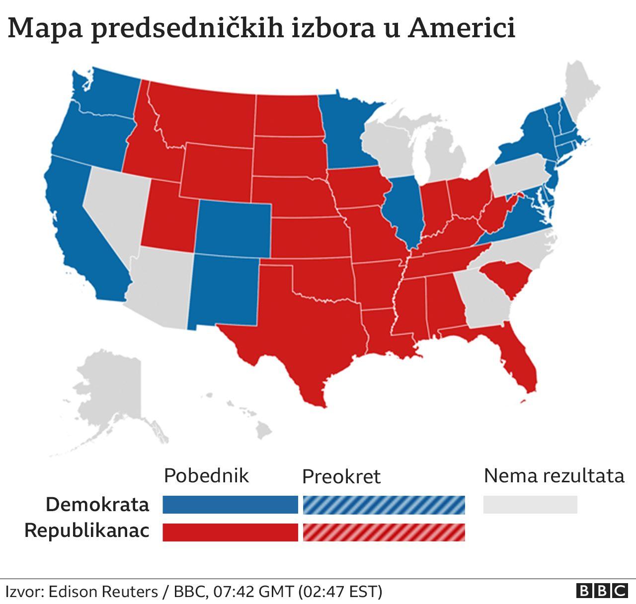 mapa izbori amerika