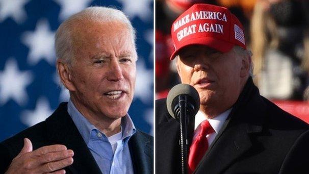 Joe Biden, left, and Donald Trump, right