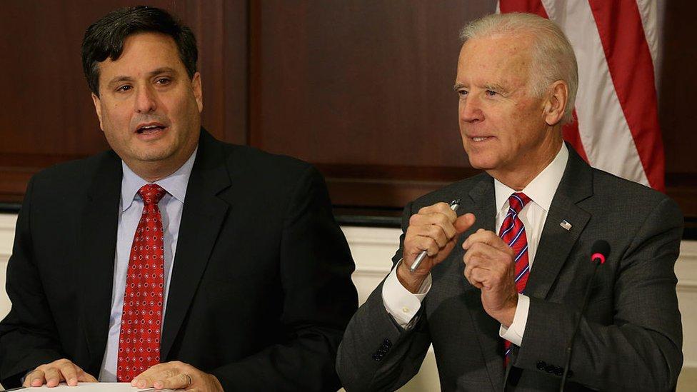 Ron Klain and Joe Biden on 13 November 2014