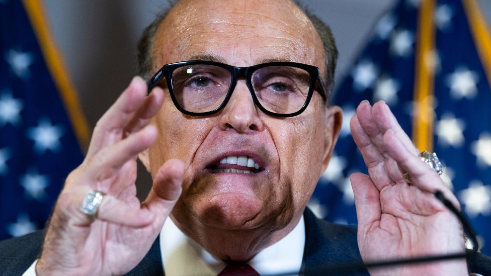 Rudy Giuliani at Republican National Committee presser on 19 November