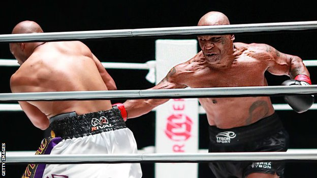 Tyson got himself in shape for his return and looked less fatigued than Jones as the fight progressed