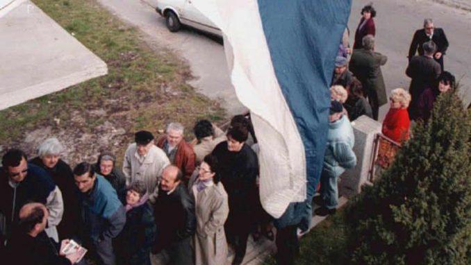 Simbol ratnih razaranja u bivšoj Jugoslaviji 2