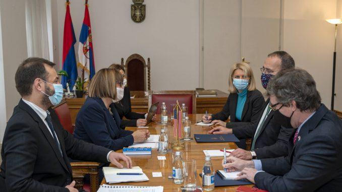 Gojković i Godfri razgovarali o unapređenju medijskog prostora u Srbiji i o saradnji 5