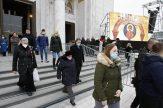 Patrijarh Irinej sahranjen u hramu Svetog Save (FOTO) 5