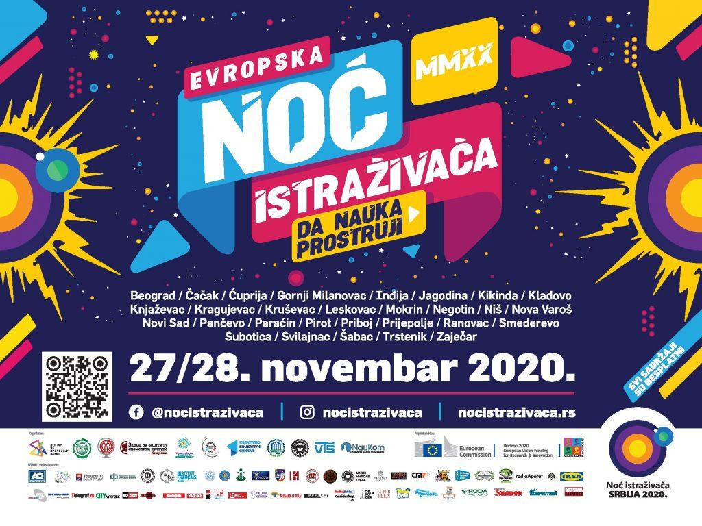 Evropska noć istraživača onlajn 27. i 28. novembra 3