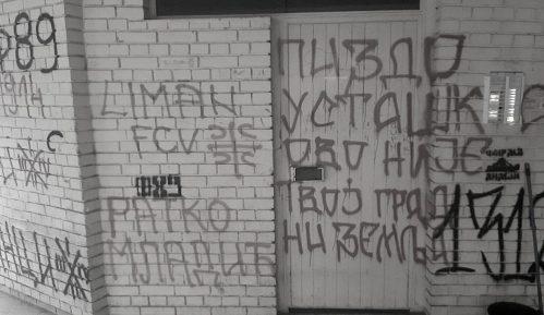 NDNV: Grafiti mržnje na zgradi urednika VOICE-a 4