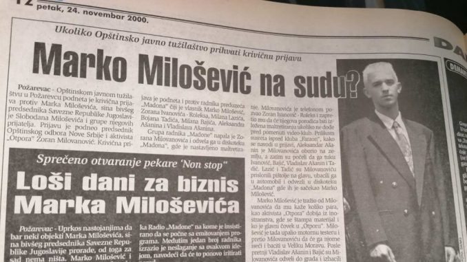 Zbog čega je pre 20 godina krivično gonjen Marko Milošević? 3