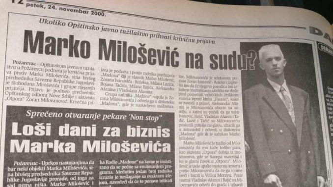 Zbog čega je pre 20 godina krivično gonjen Marko Milošević? 4