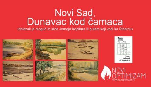 Izložba akvarela novinara i slikara Lasla Tota u Novom Sadu 1