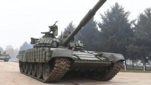Vojska Srbije u Nišu predstavila tenkove T-72 B1 MS iz ruske donacije 2