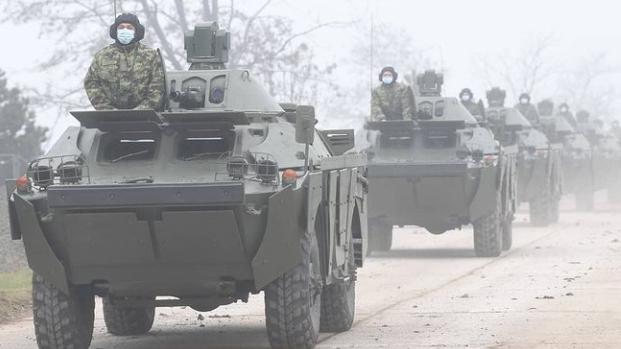 Vojska Srbije u Nišu predstavila tenkove T-72 B1 MS iz ruske donacije 1