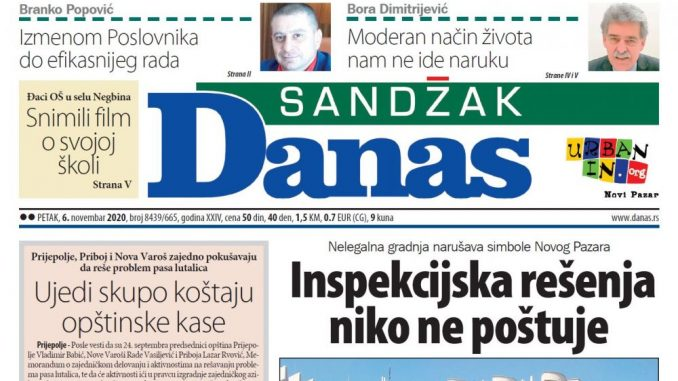 Sandžak Danas - 6. novembar 2020. (PDF) 1