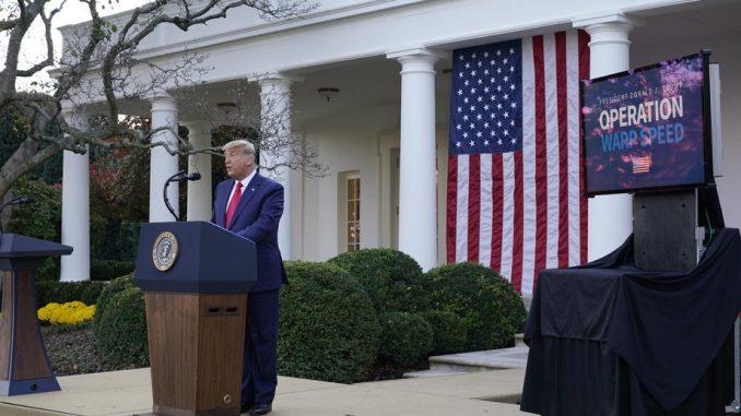 Tramp prvi put u javnosti od izbornog poraza: Vakcina dostupna od aprila (VIDEO) 4