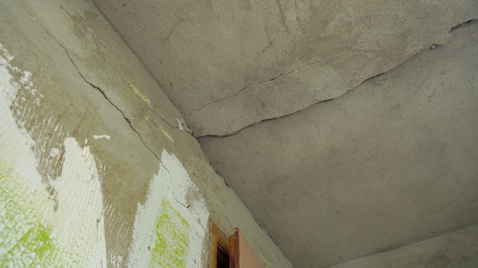 Pukotine u kući Nestorovića, selo Metovnica