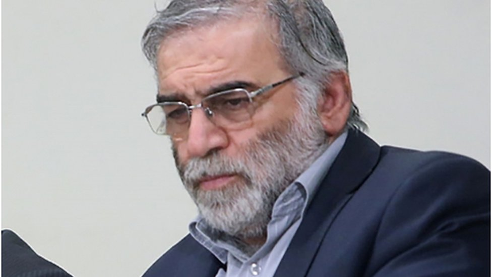 Prominent Iranian scientist Mohsen Fakhrizadeh in an undated photo