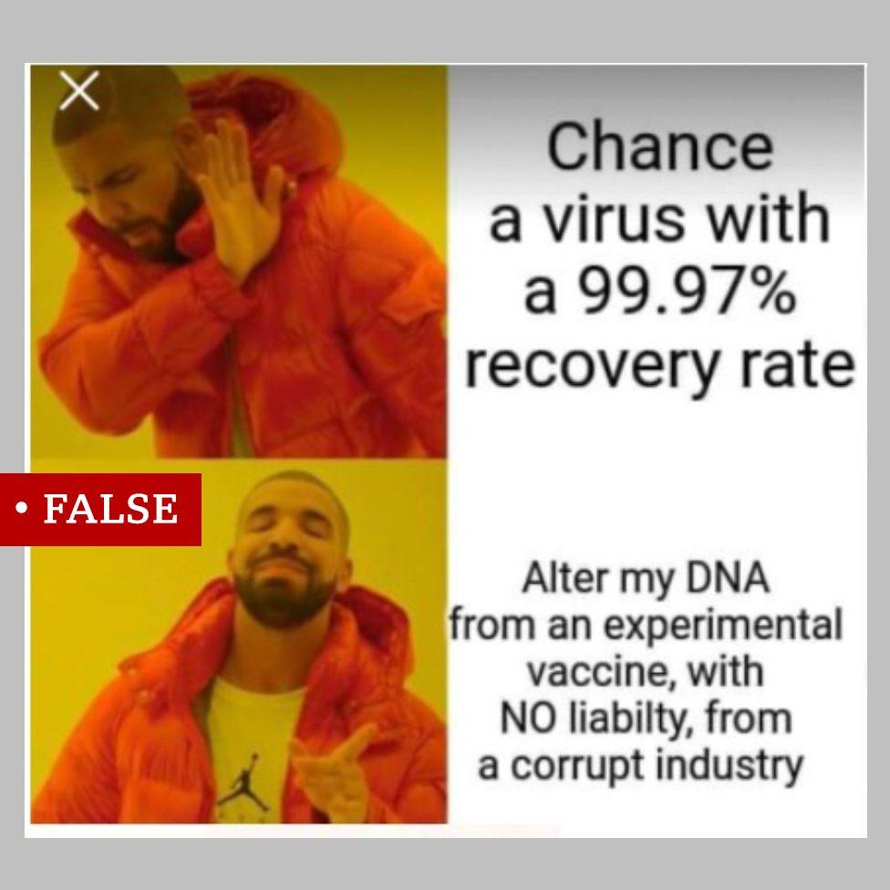 Mim sa slikama repera Drejka koristi se da promoviše lažne tvrdnje o vakcinama