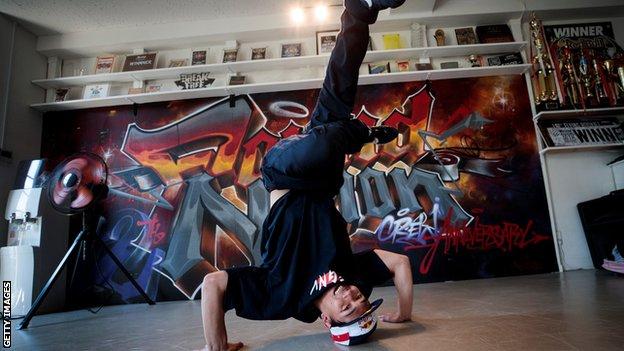 Japanese breakdancer Issei Hori